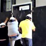 FE15 burglary tests, Intertek laboratory. Outswing Munitussecurity door.