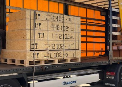For shorter deliveries we use more straightforward boxes tp pack our security doors or windows.