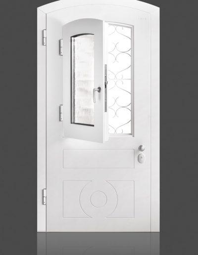 Munitus security door with window P6B glass