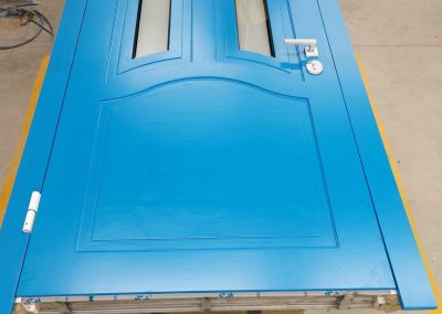 Munitus security door with WRB panles and glass