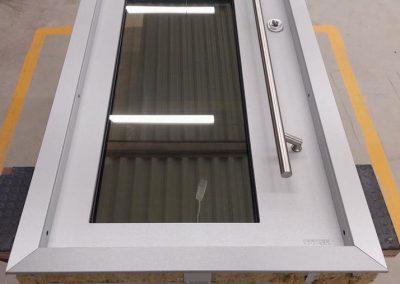 Munitus security door with glasses modern design