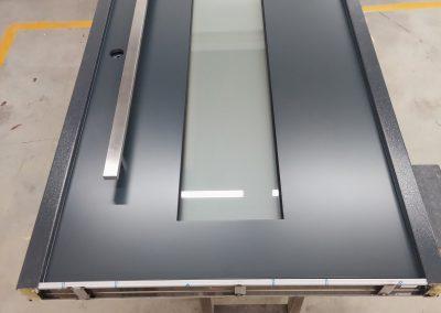 Munitus Security door with mat glass P6B modern design