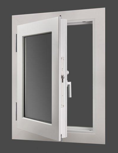 Bullet-resistant BR4 window Munitus with handle.
