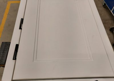Munitus Bullet resistant doors, with panels prepared for paiting