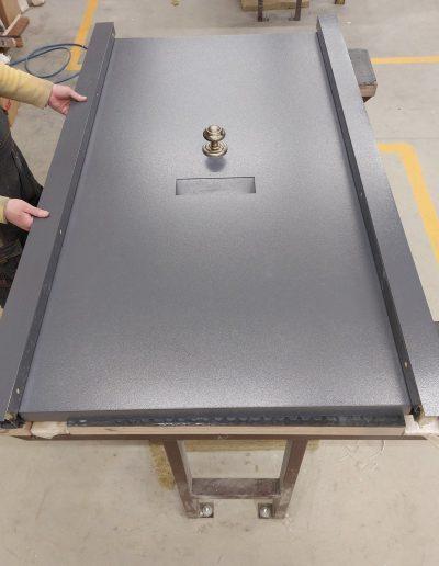 Munitus security doors with steel panels