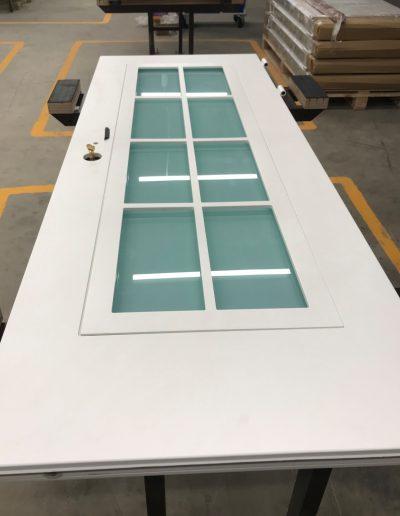 Munitus security door with mat glass P6B