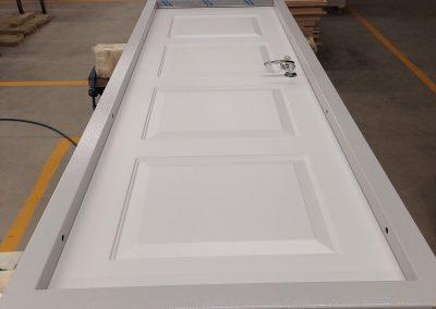 Munitus security door with painted panels