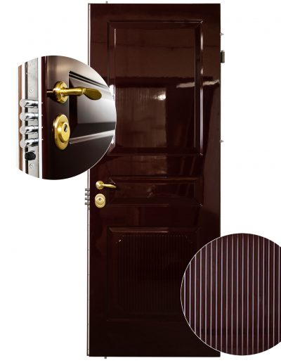 Munitus security door with gloss painted panels