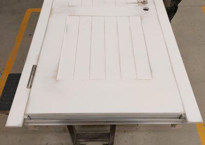 Munitus Custom made bullet resistant door prepared for painting