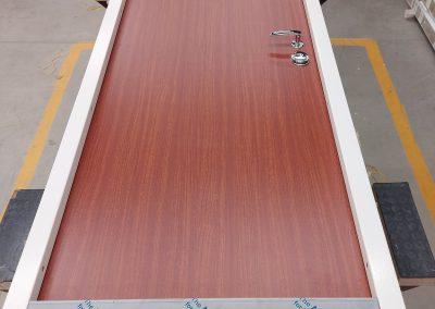 Munitus security door RC3 with PVC panels.
