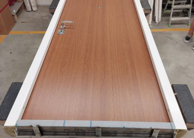 Munitus security door with PVC panels