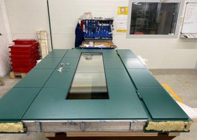 Munitus security door with side panels
