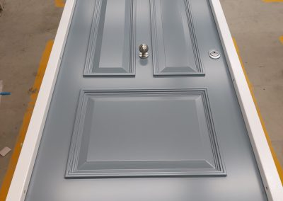 Victorian style Munitus security door with transom