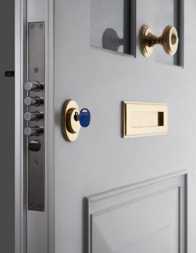 Victorian syle Munitus front door with high security lock