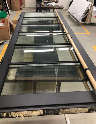 custom made security door RC3 with metal panels and P6B glass