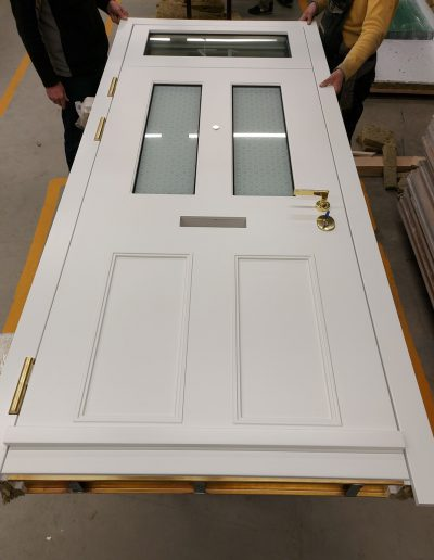 assemby Victorian style security door