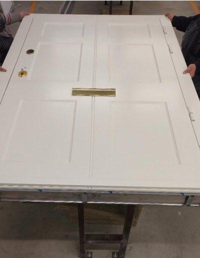 front security door with post box