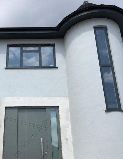 Munitus Security door with sidelight and fixed panel in UK
