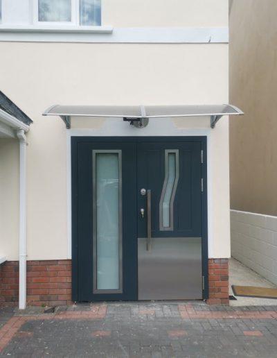 Munitus Security front door with sidelight installed in Ireland