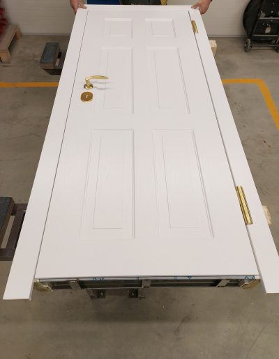 custom made security apartment door with painted panel