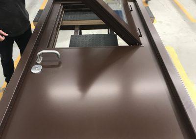 assembilng security door with window