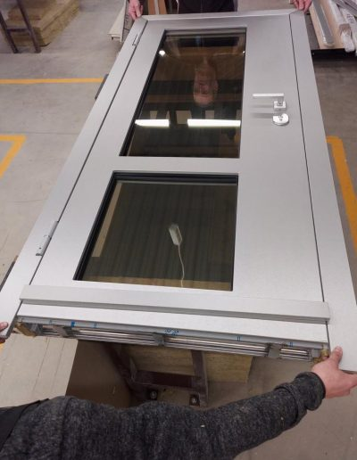 security doors with glasses P6B