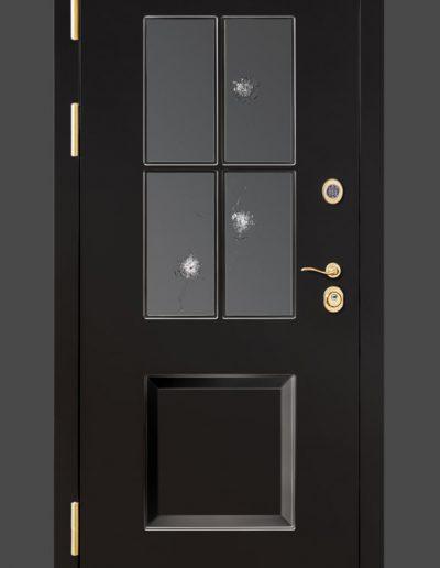 FB4 Buglar-resistante security door with bulleet-proof glass BR4
