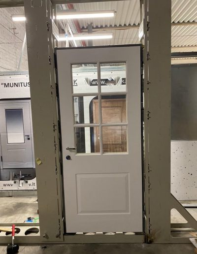 security door with glass, quality control