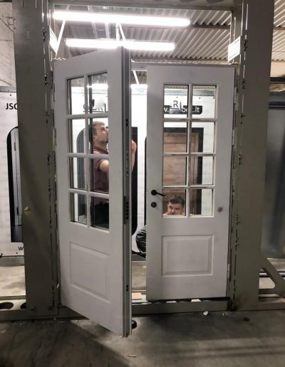 quality control in Munitus factory, double security door