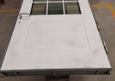 Bullet resistant FB6 door with BR6 glass and prepared for paiting skins