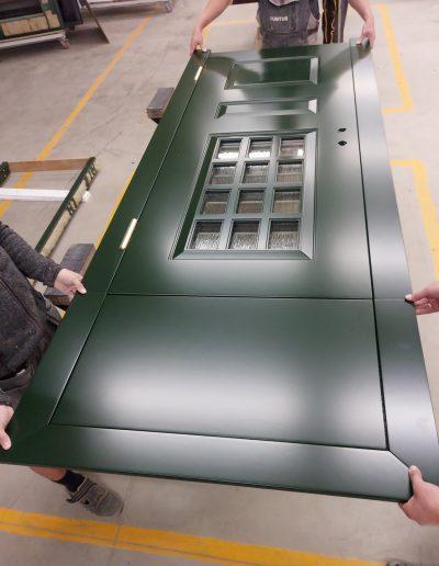 Danish style Munitus security door wiyh wawed glass