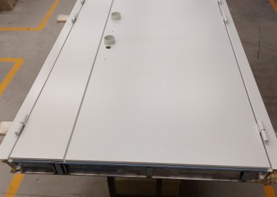 Double Munitus security door with additional special defenders for cylinders