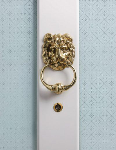Lion knocker for bespoke made Munitus security door