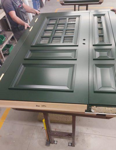 Munitus Danish style security door with sidelight