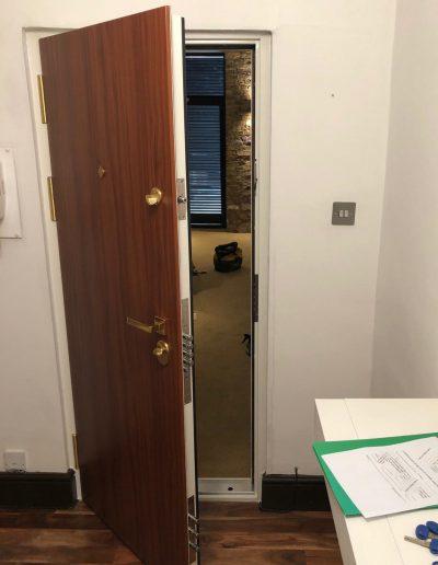 Munitus apartment security door installed in UK
