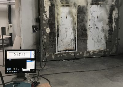 Munitus security door Fire test EI45