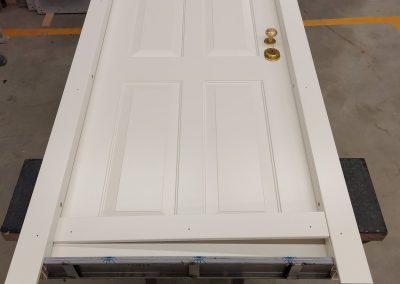 Munitus security door in assembly shop