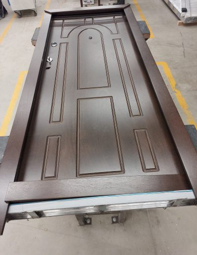 Munitus security door with WRB panels