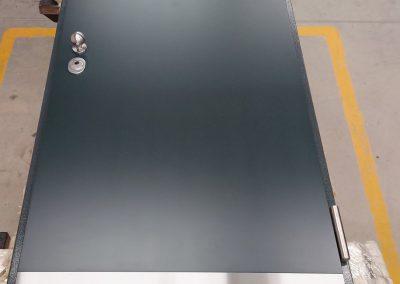 Munitus security door with kick plate