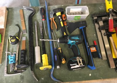 RC4 tools for EN1627 burglary tests level 4