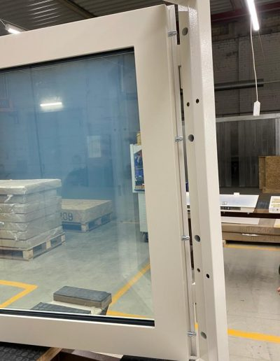 Munitus BR4 windows with painted EDM panels