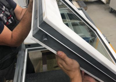 Munitus bullet-resistant BR6 window with security multi point lock