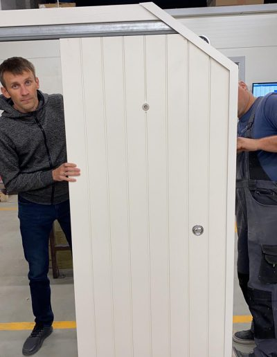 Munitus sliding bullet resistant FB4 security door