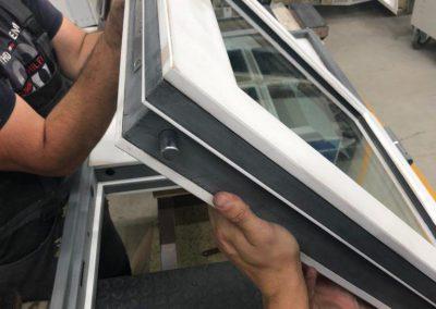 Bullet resistant windows EN1522 FB6, EN1063 BR6 glass, EN1627 RC4