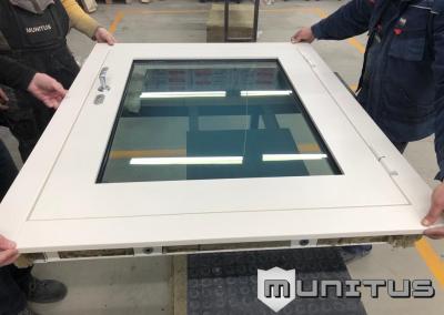 bullet-resistant windows EN1063 BR4 glass and EN1522 FB4 frame